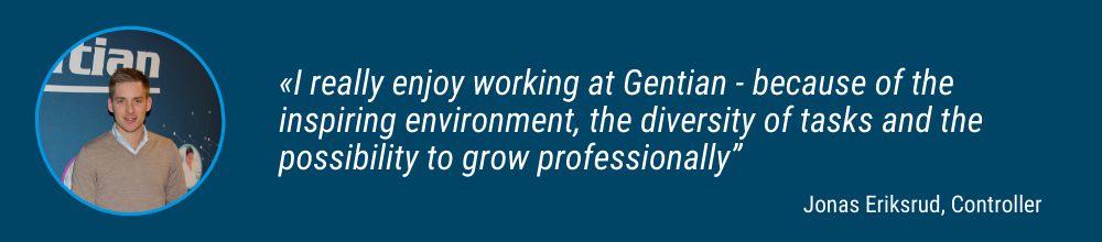 """""""As a Global Product Manager at Gentian I enjoy following _the product from production all the way to the customers _all over the world, and seeing how my actions directly _impacts our performance"""" (2)"""
