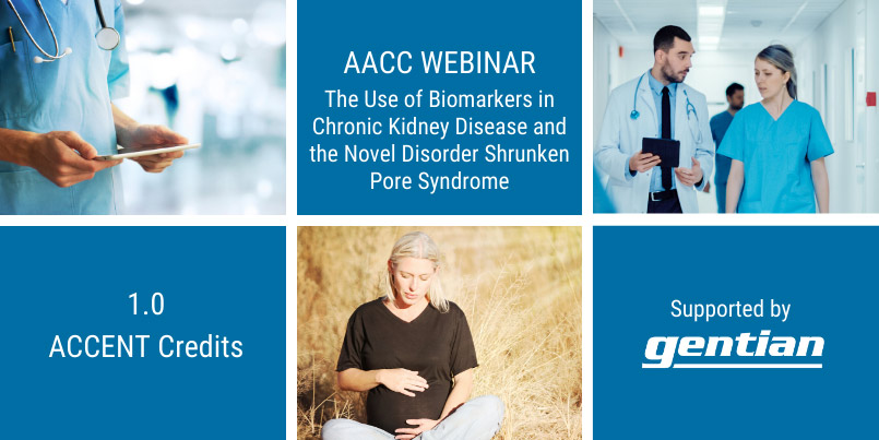 AACC webinar about kidney markers, cystatin C and SPS