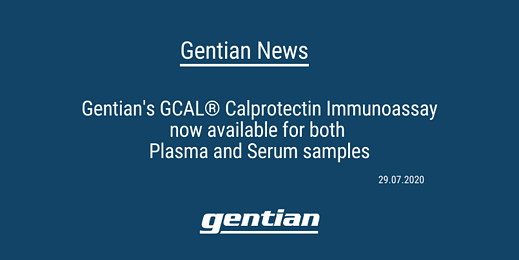GCAL® Calprotectin Assay now available for plasma and serum samples­