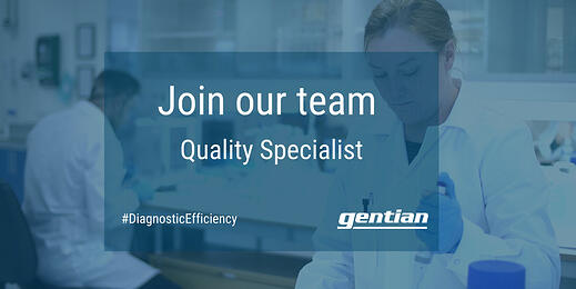We are looking for a Quality Specialist to join our team
