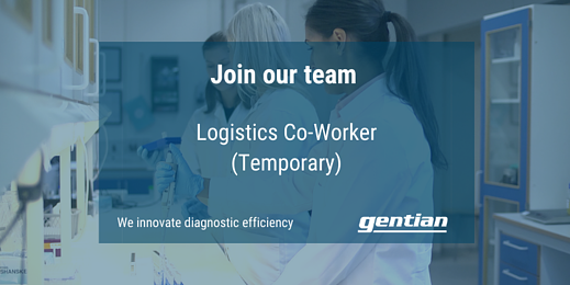 We are looking for a Logistic Co-Worker (Temporary) to join our team