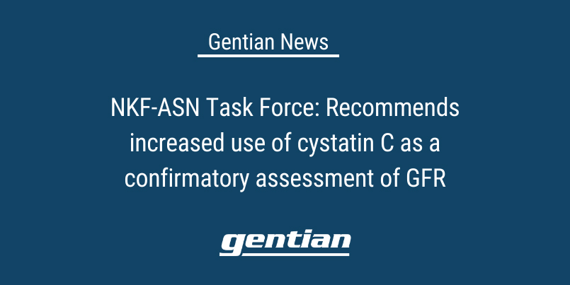 NKF-ASN Task Force: Recommends increased use of cystatin C