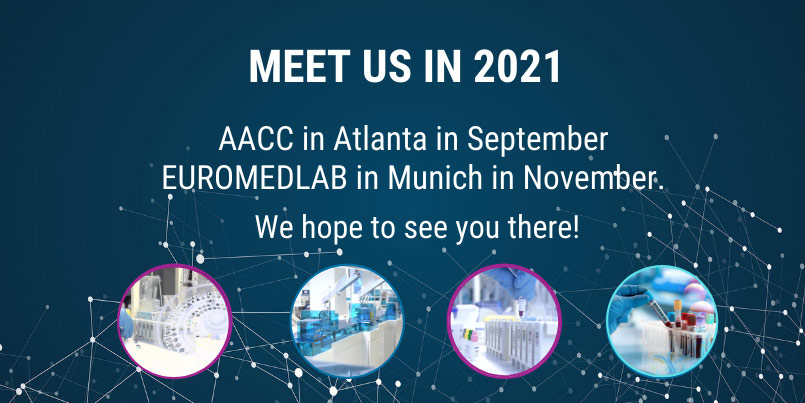 Meet us in 2021 - AACC and EUROMEDLAB